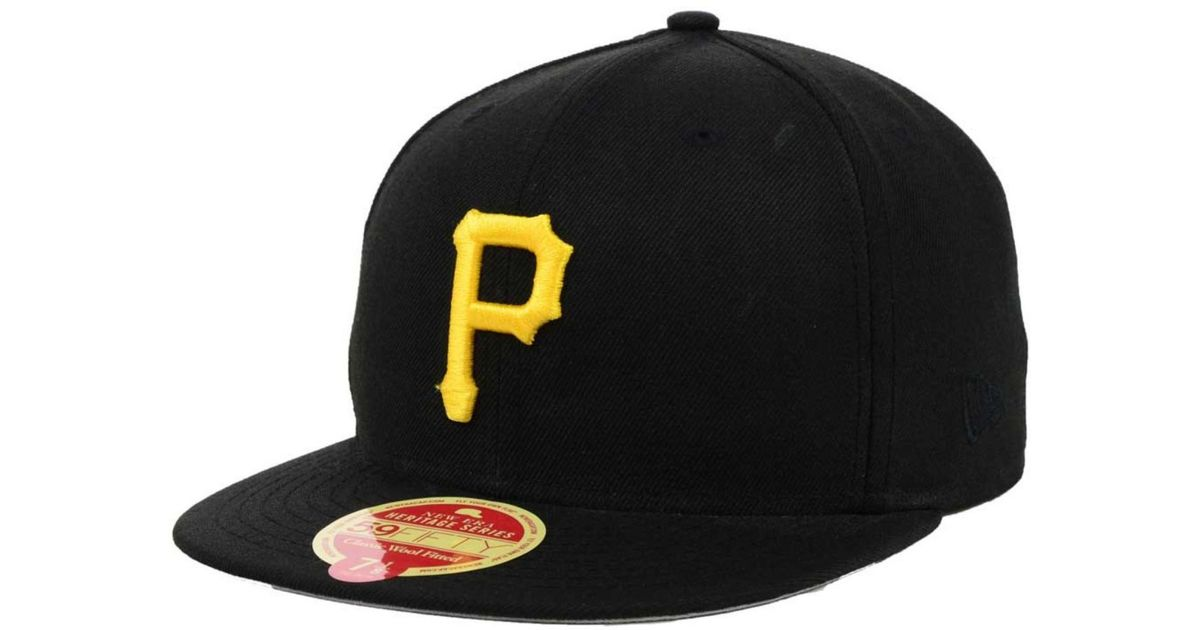 factory outlets super quality buying cheap KTZ Pittsburgh Pirates Wool Classic 59Fifty Cap in Black for Men ...
