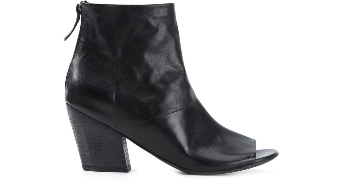 mars 232 ll open toe ankle boots in black save 71 lyst