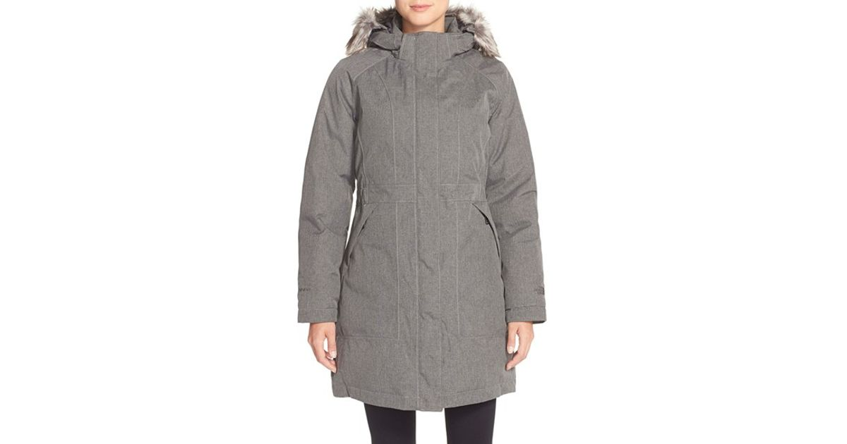 442880dc6 The North Face Gray 'arctic' Parka With Removable Faux Fur Trim Hood