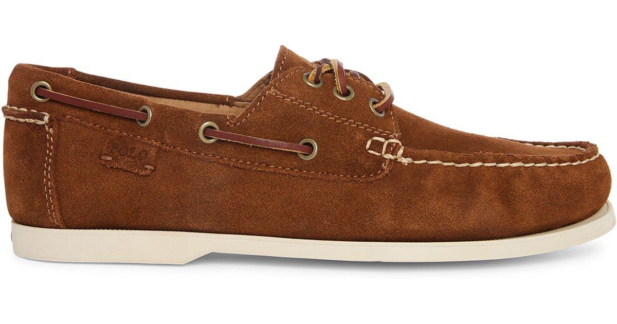Polo Ralph Lauren Bienne Ii Leather Boat Shoes