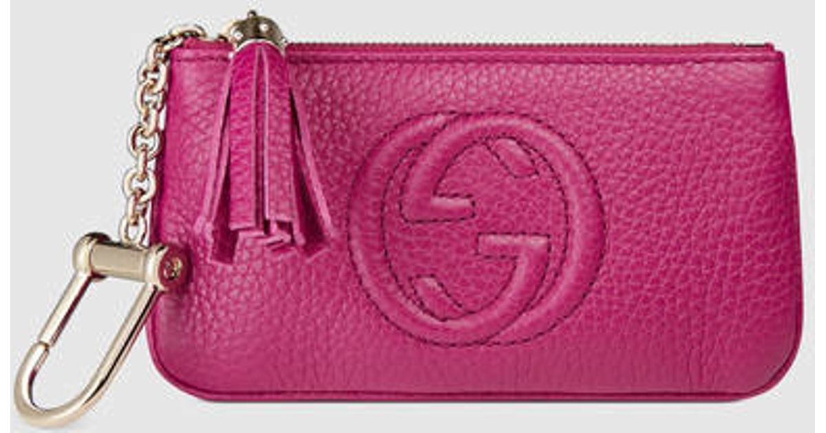 Lyst - Gucci Soho Leather Key Case in Purple 6bc984c5d