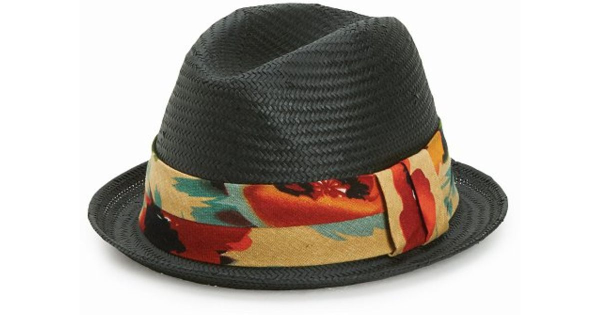 f9bba9ba848 Lyst - San Diego Hat Company Mens Porkpie Fedora With Tropical Band in  Black for Men