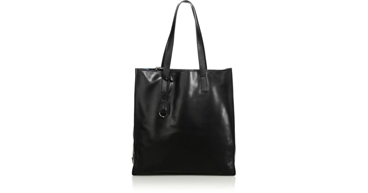 ... prada designer wallets - Prada Soft Calf Leather Tote in Black (nero  celeste) ... 25a20443f3