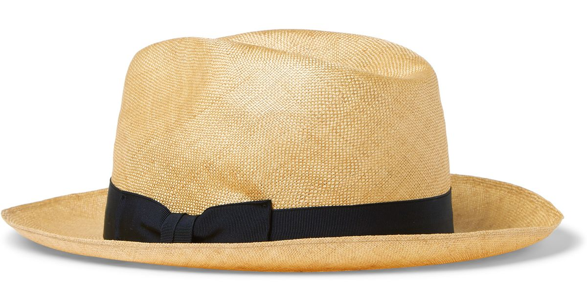 1a9d33bb Lock & Co. Napoli Sisal Hat in Brown for Men - Lyst
