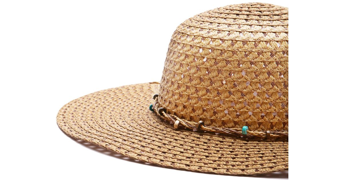 Lyst - Forever 21 Straw Floppy Hat in Natural 275e95f96e32