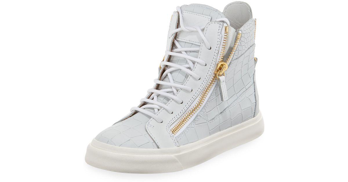 zipped mid top sneakers - White Giuseppe Zanotti RhnQWZt