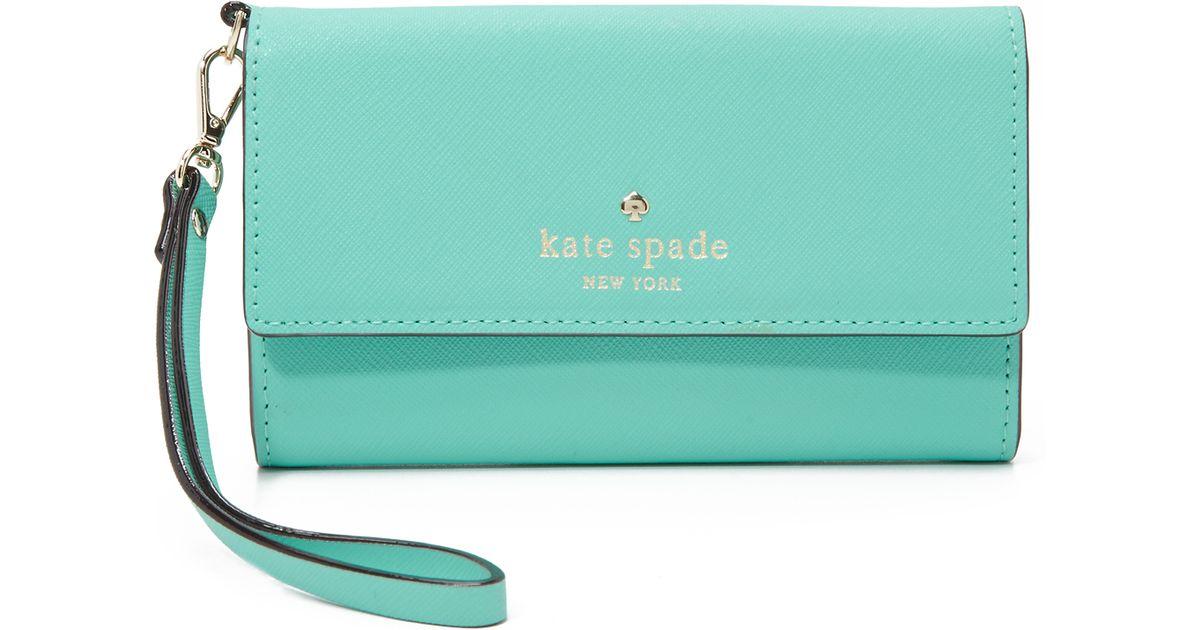 huge discount 10dcf a0351 kate spade new york Green Cedar Street Iphone 6 / 6s Wristlet