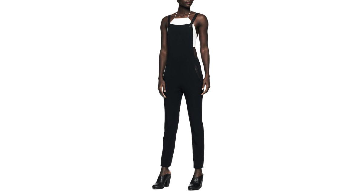 86795bfcd630 Lyst - Rag   Bone Box Crepe Overalls Jumpsuit in Black