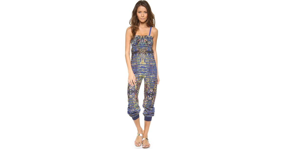 M Missoni Blue Digital Batik Jacquard Jumpsuit