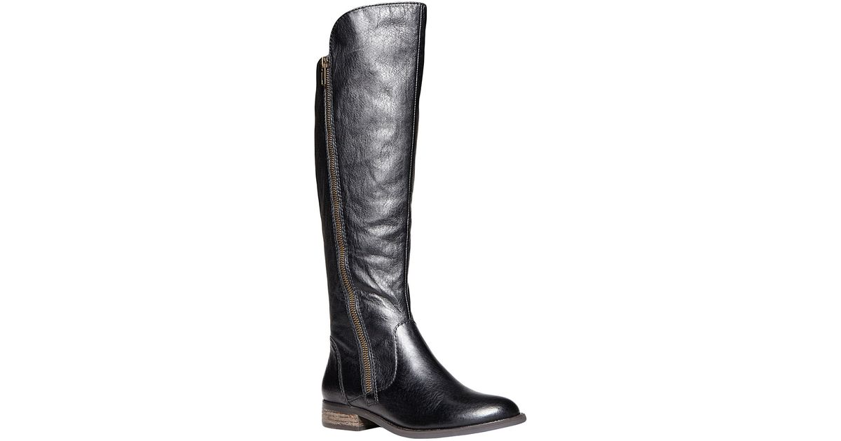 2cab90100eb Steve Madden Black Shawny Tall Leather Boots