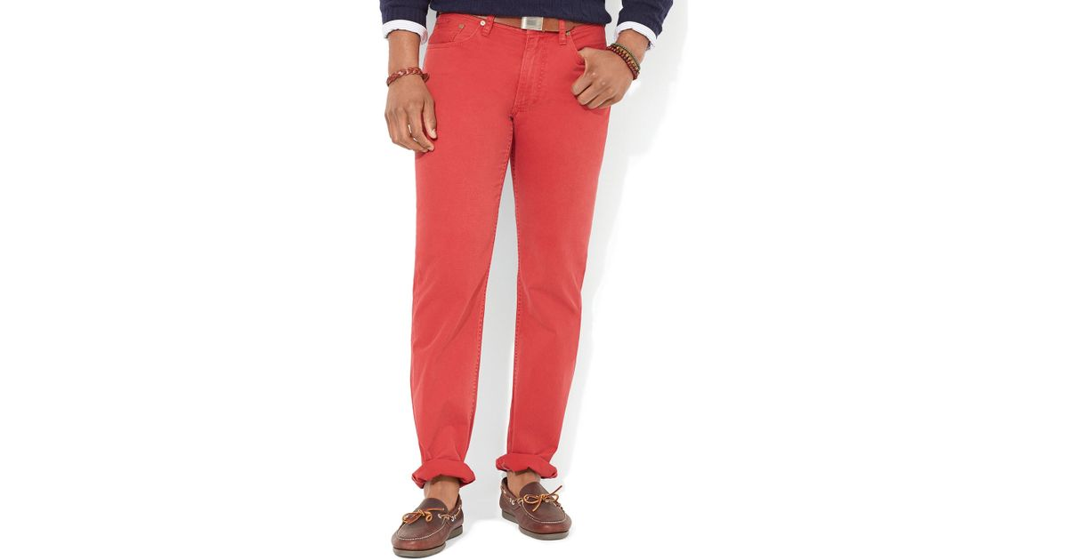 Pocket Lauren Chino For Red Classic Ralph Straight Pant Fit 5 Men Polo TlKJu1cF3