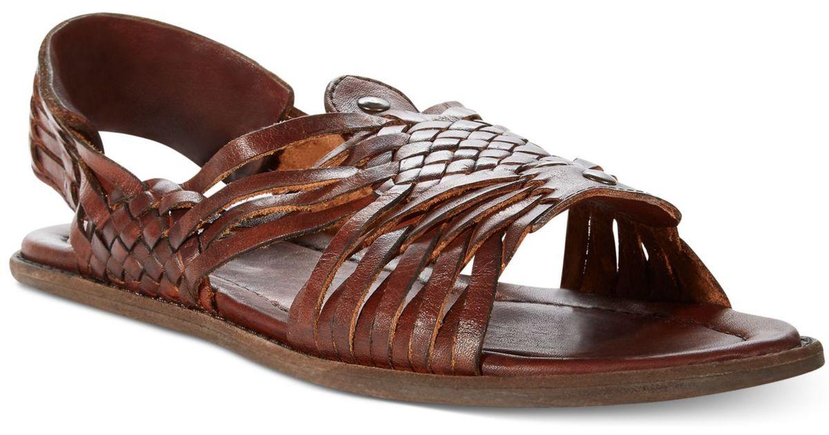 Frye Brown Lawson Huarache Sandals for men