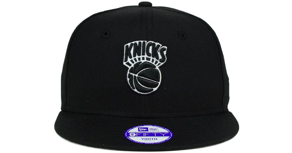 newest collection def81 5102b Lyst - Ktz Kids  New York Knicks Black White 9fifty Snapback Cap in Black  for Men