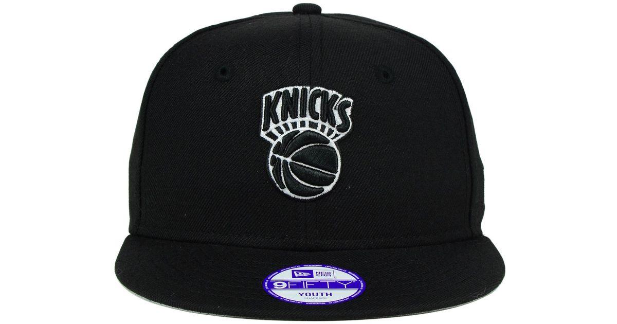 Lyst - Ktz Kids  New York Knicks Black White 9fifty Snapback Cap in Black  for Men 461b416bebb