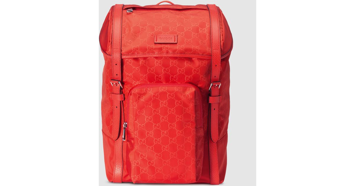 7ae6aeec5439 Gucci Nylon Ssima Light Backpack in Red for Men - Lyst
