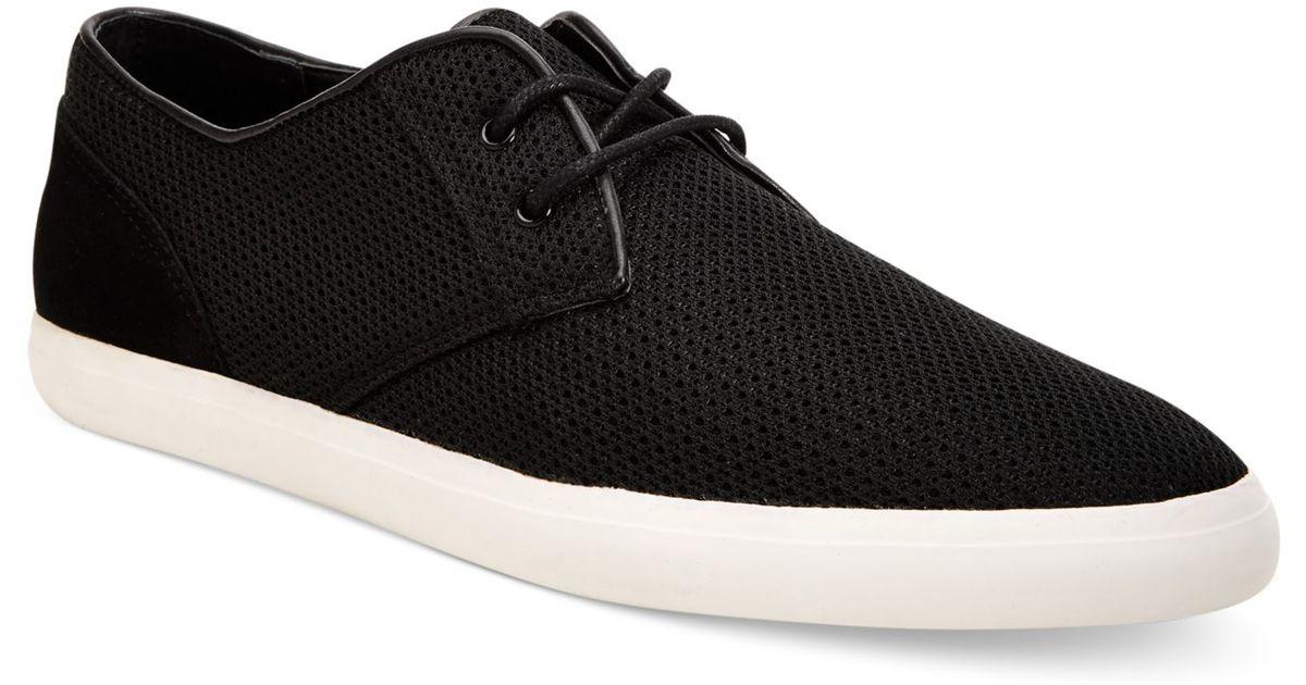 calvin klein parker mesh shoes in black for men lyst. Black Bedroom Furniture Sets. Home Design Ideas