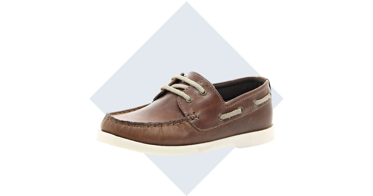 River Island Boys Brown Boat Shoe for