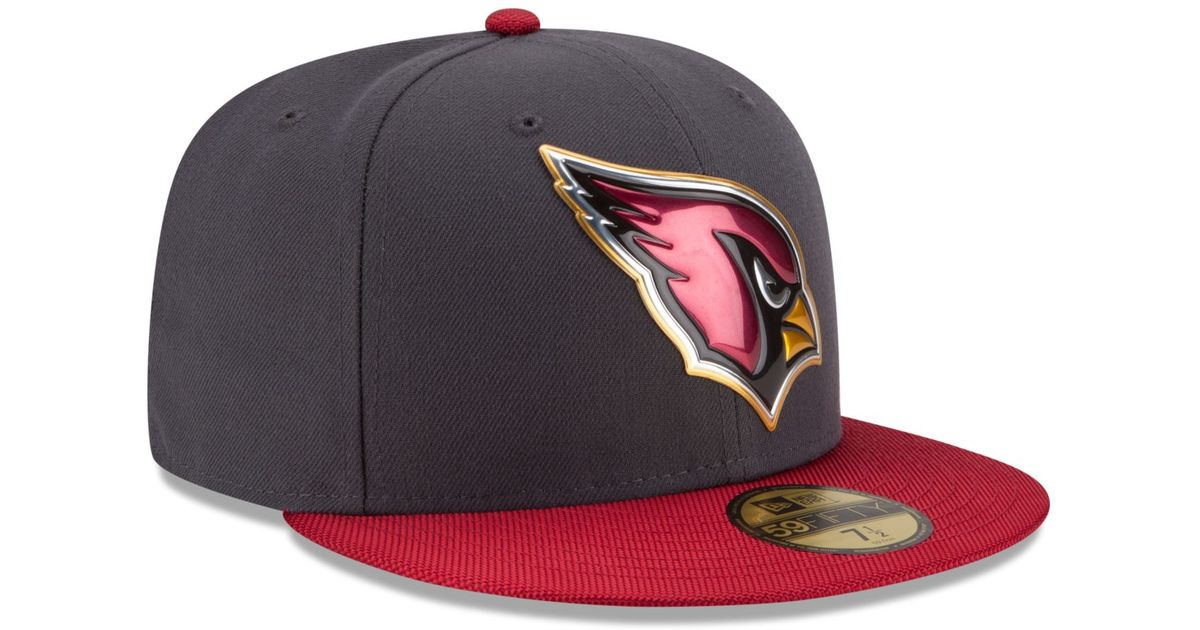 0d4a4d39 KTZ Purple Arizona Cardinals Gold Collection On-field 59fifty Cap for men