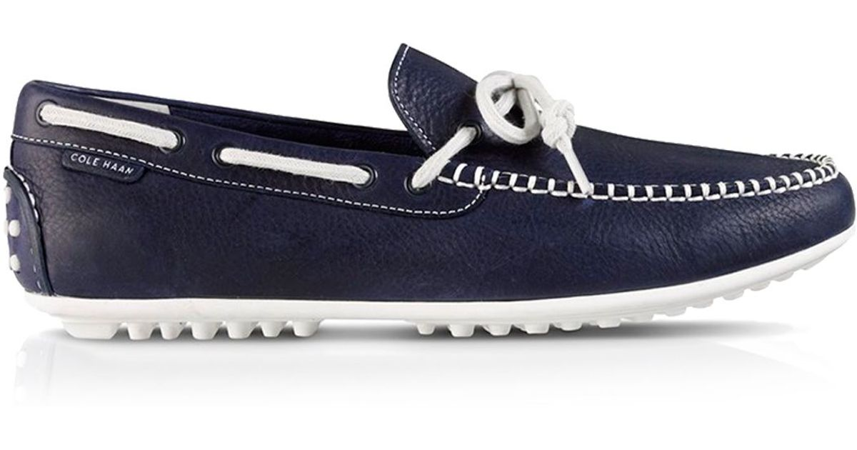 f969d47e00d Lyst Cole Haan Grant Lte Leather Driving Loafers In Blue For Men