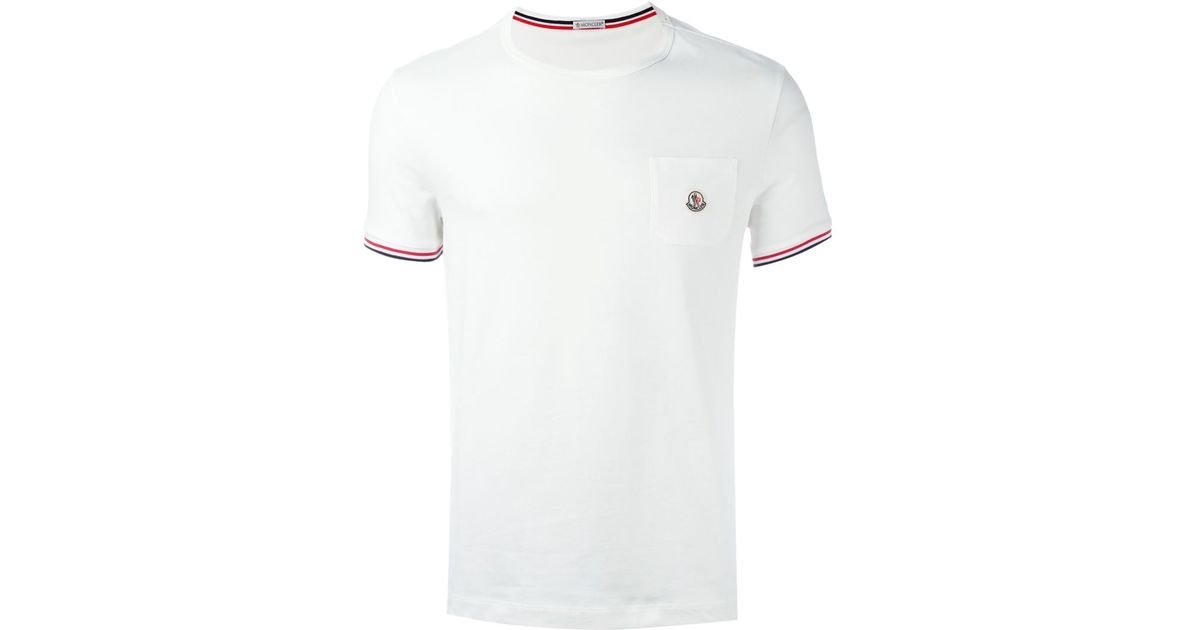 moncler mens white t shirt