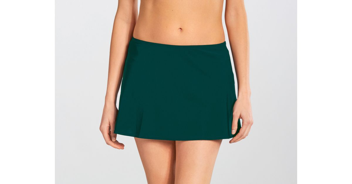 karla colletto basic a line skirt in green lyst