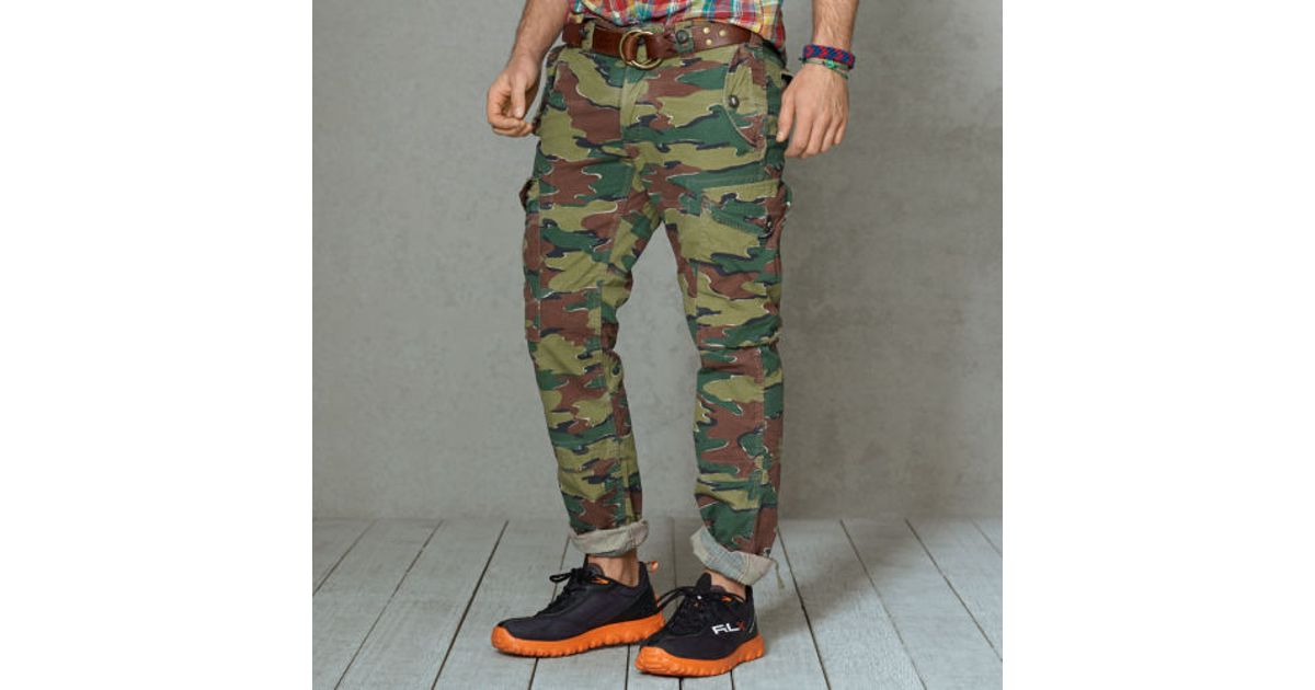 beauty huge selection of good texture Polo Ralph Lauren Multicolor Straightfit Camo Cargo Pant for men