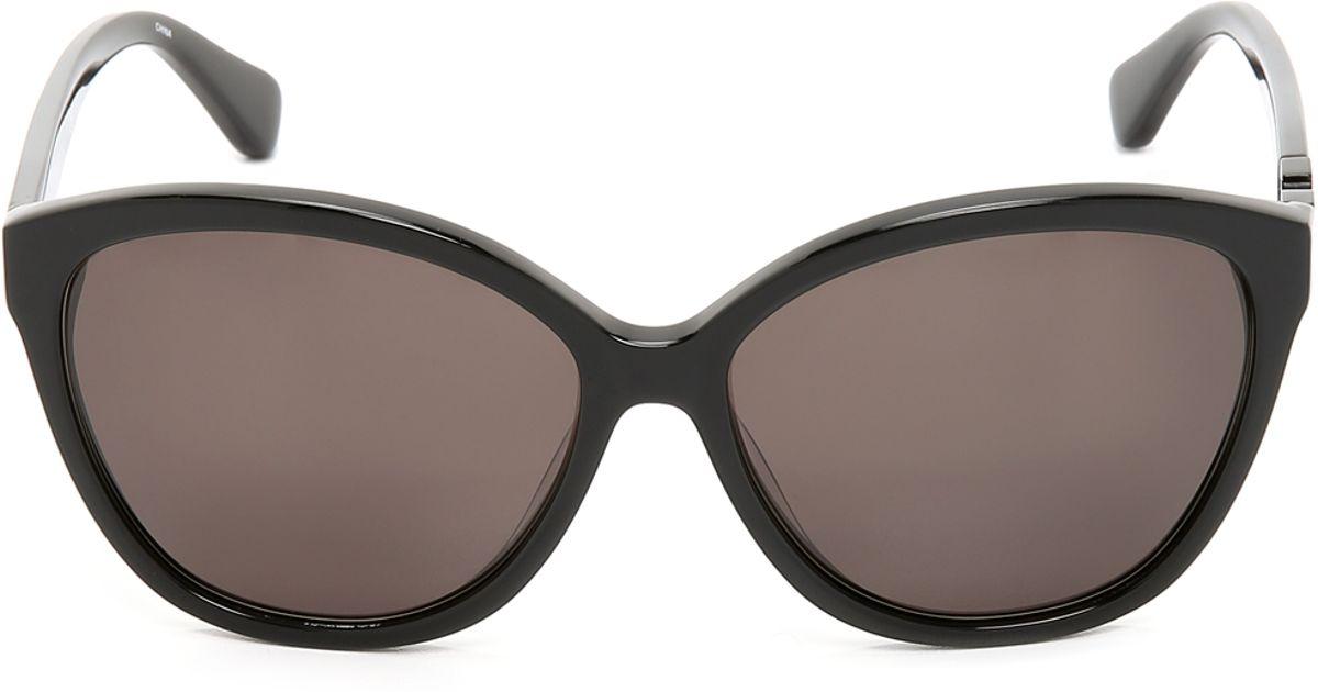937aa28863 Diane von Furstenberg Harper Sunglasses in Black - Lyst