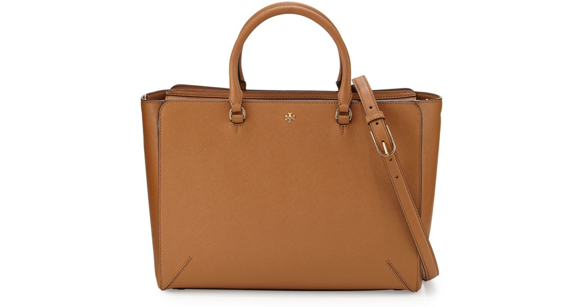4f96c81a8382 Lyst - Tory Burch Robinson Large Zip-top Tote Bag in Brown