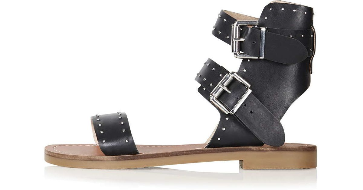 popular brand sale uk popular brand TOPSHOP Black Flower Studded Sandal