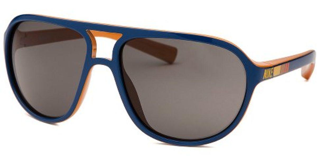 b3d6eb66af16 Lyst - Nike Vintage 72 Aviator Blue Sunglasses in Blue for Men