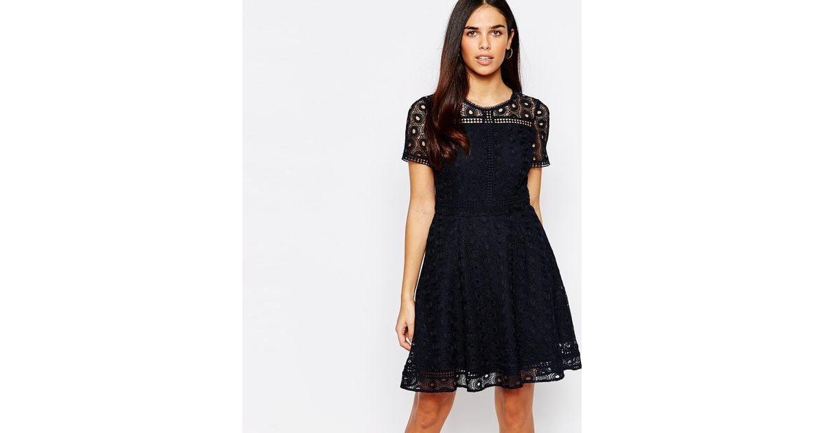 Black lace dress warehouse