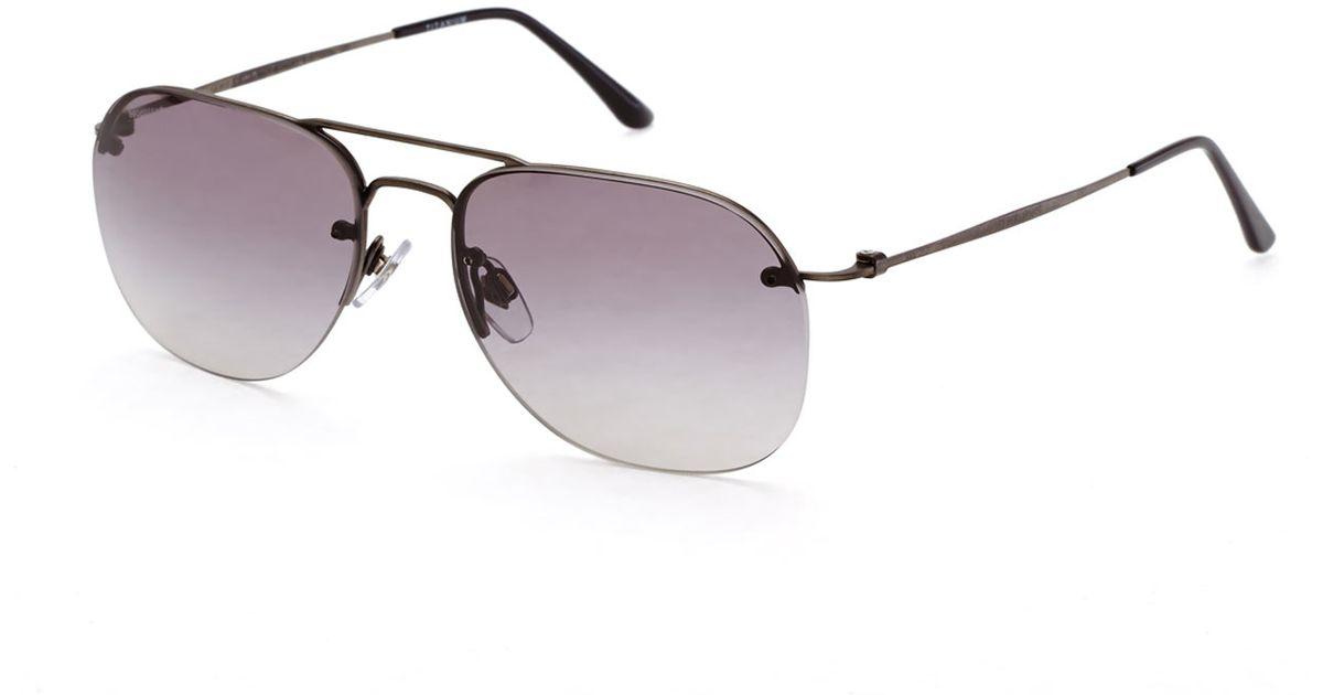 99e49a140399 Lyst - Giorgio Armani Ar6004 Gunmetal Rimless Aviator Sunglasses in  Metallic for Men