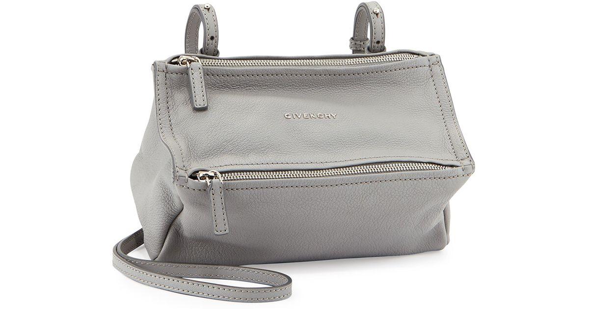 616ac2af89a60 Givenchy Pandora Mini Leather Shoulder Bag in Natural - Lyst