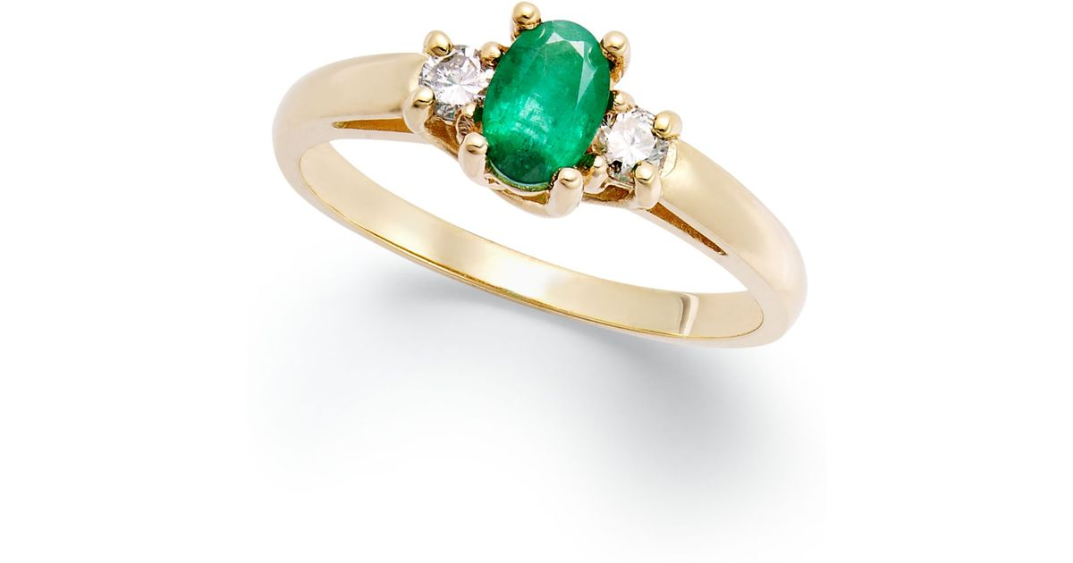 macy s 14k gold ring emerald 3 8 ct t w and