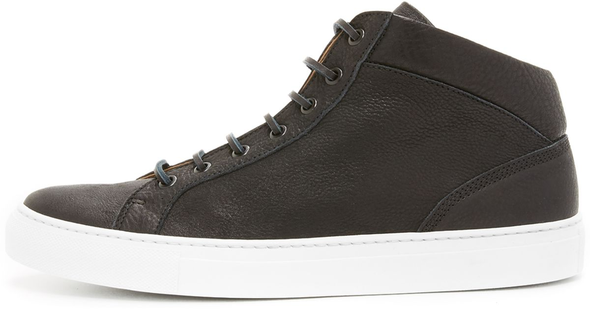 11713a3f5839 Wings + Horns Leather Mid Top Sneakers in Brown for Men - Lyst ...