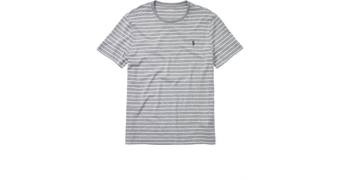 549df95c ... reduced lyst polo ralph lauren striped cotton jersey t shirt in white  for men 8b196 936de