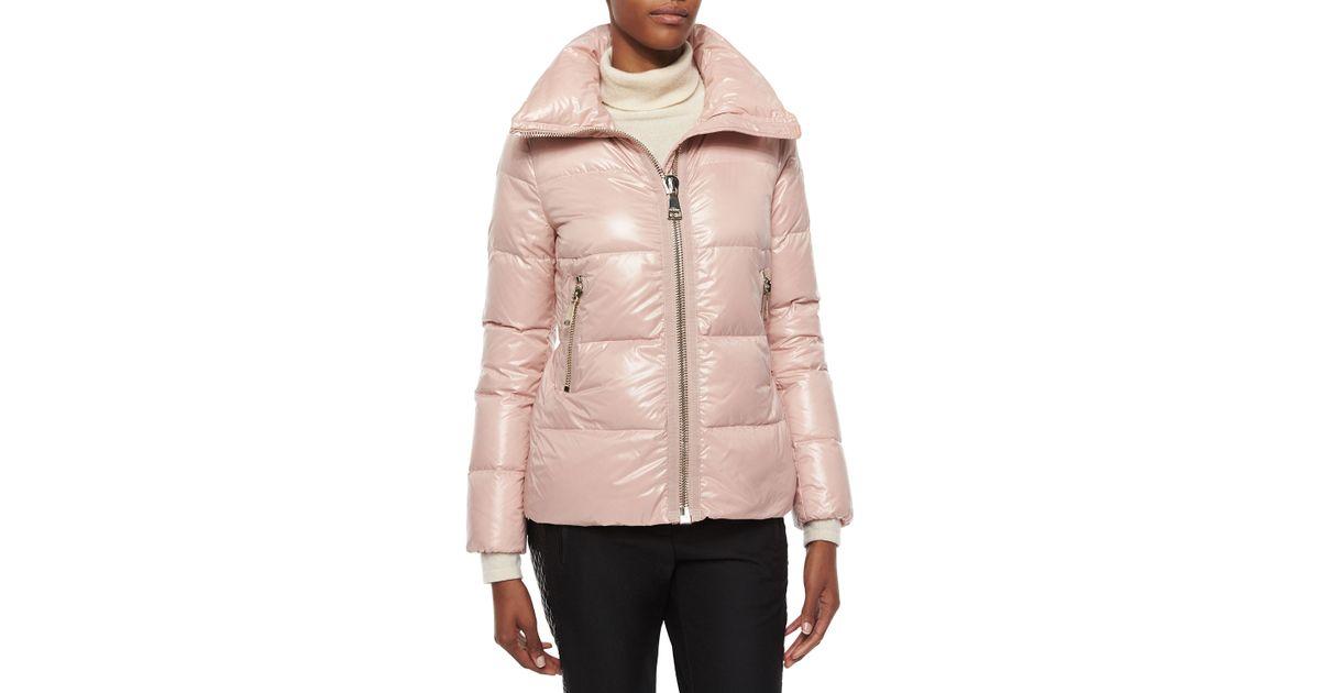 628fd0a1a Moncler Pink Joux High-neck Puffer Jacket