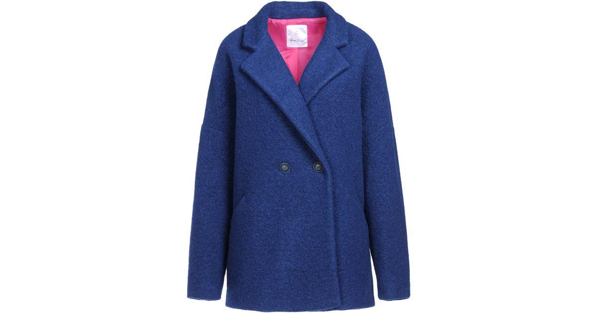 a5e3c5b0f21 Lyst - George J. Love Coat in Blue