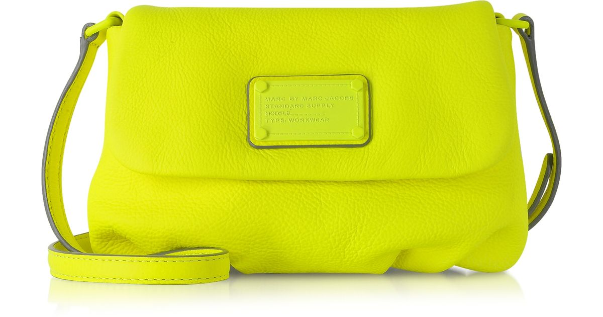 f6ee7ffff2c5 Lyst - Marc By Marc Jacobs Flap Percy Electro Q Leather Crossbody Bag in  Yellow