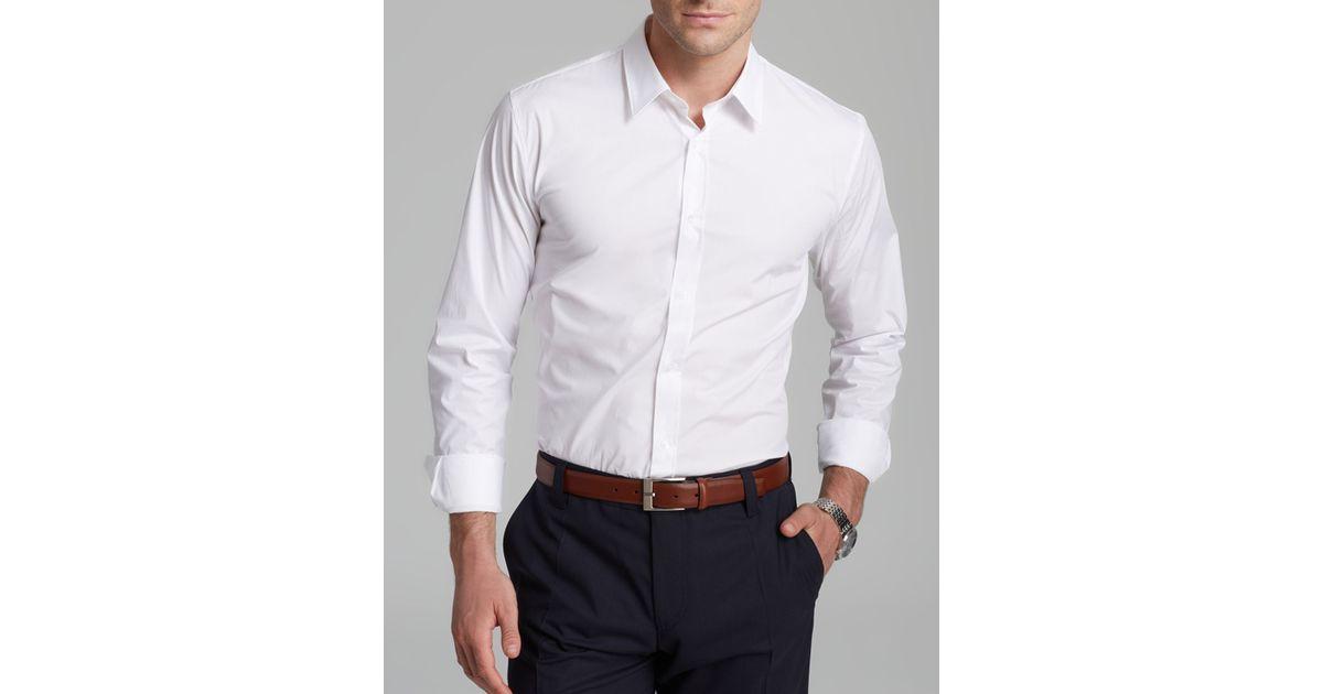 Hugo elisha button down shirt slim fit in white for men for Slim fit white button down shirt