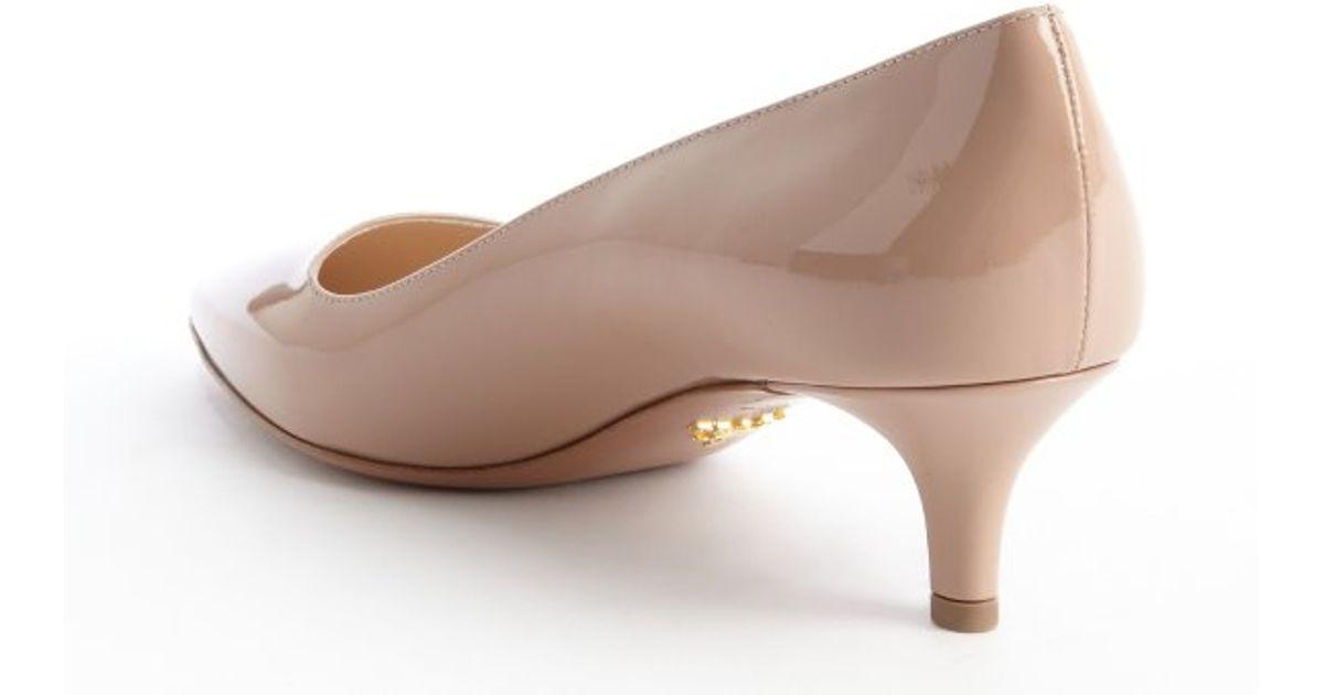 Leather kitten heel pumps Prada uJuISu