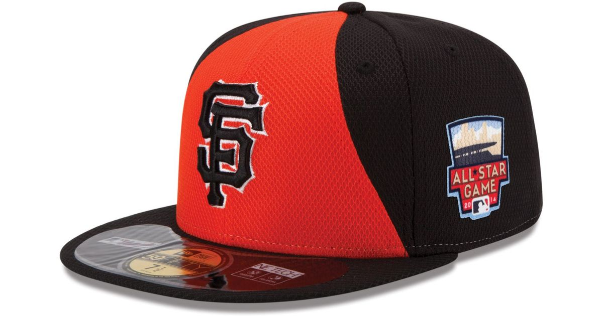 new arrival dcd72 18b7a KTZ San Francisco Giants 2014 All Star Game Patch 59Fifty Cap in Red for  Men - Lyst