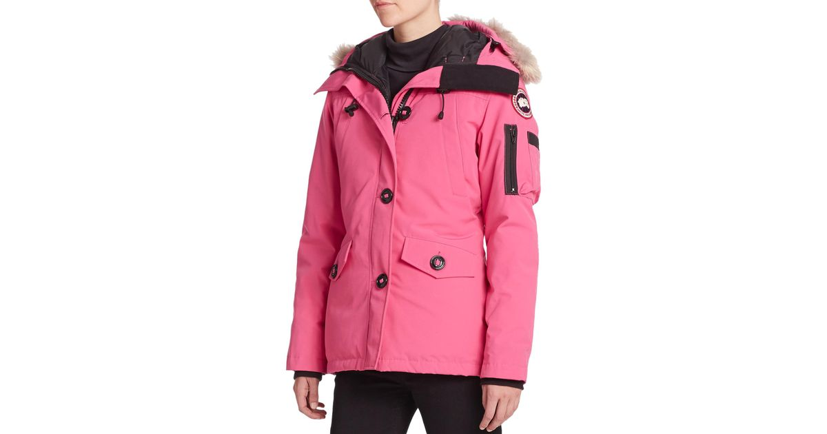 70d545927f7f Lyst - Canada Goose Fur-trimmed Montebello Parka in Pink