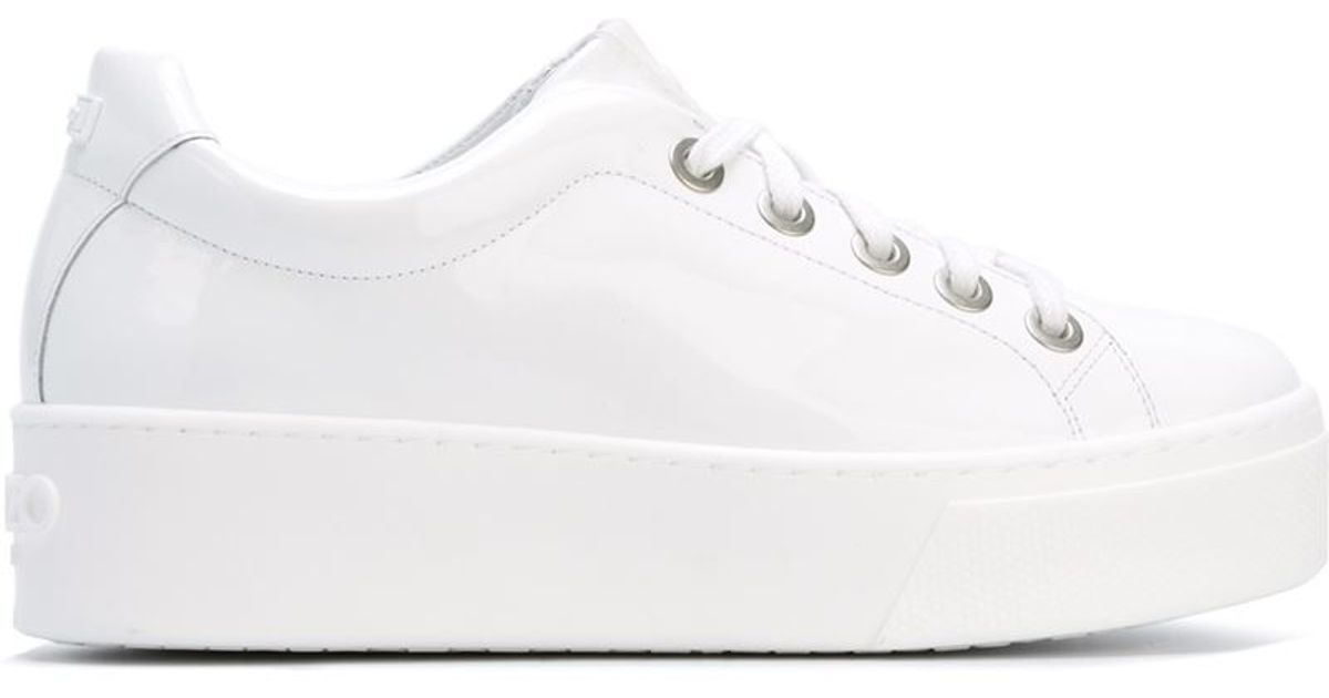 KENZO Leather 'k-lace' Sneakers in