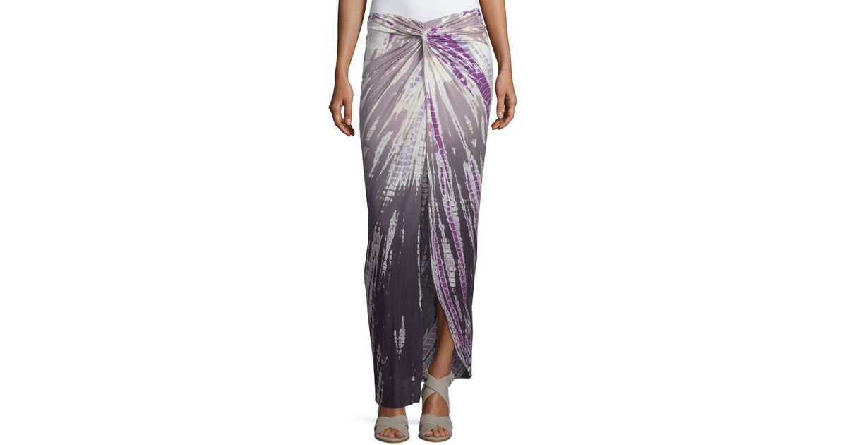 fabulous ruched high low ombre tie dye maxi