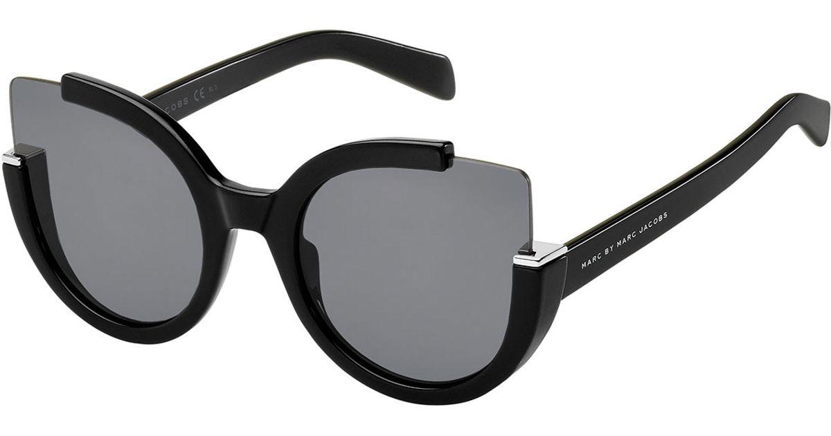 good looking catch aliexpress Marc By Marc Jacobs Black Semi-rimless Cat-eye Sunglasses