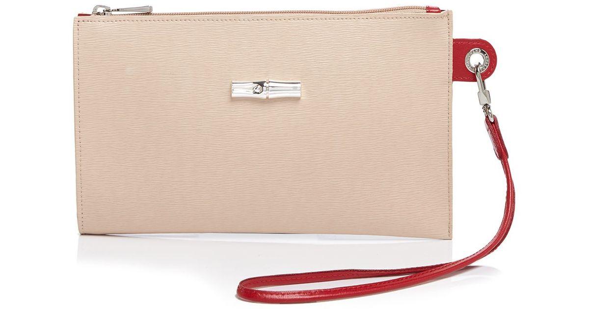 Popular Portable Longchamp Cosmetic Bags Beige