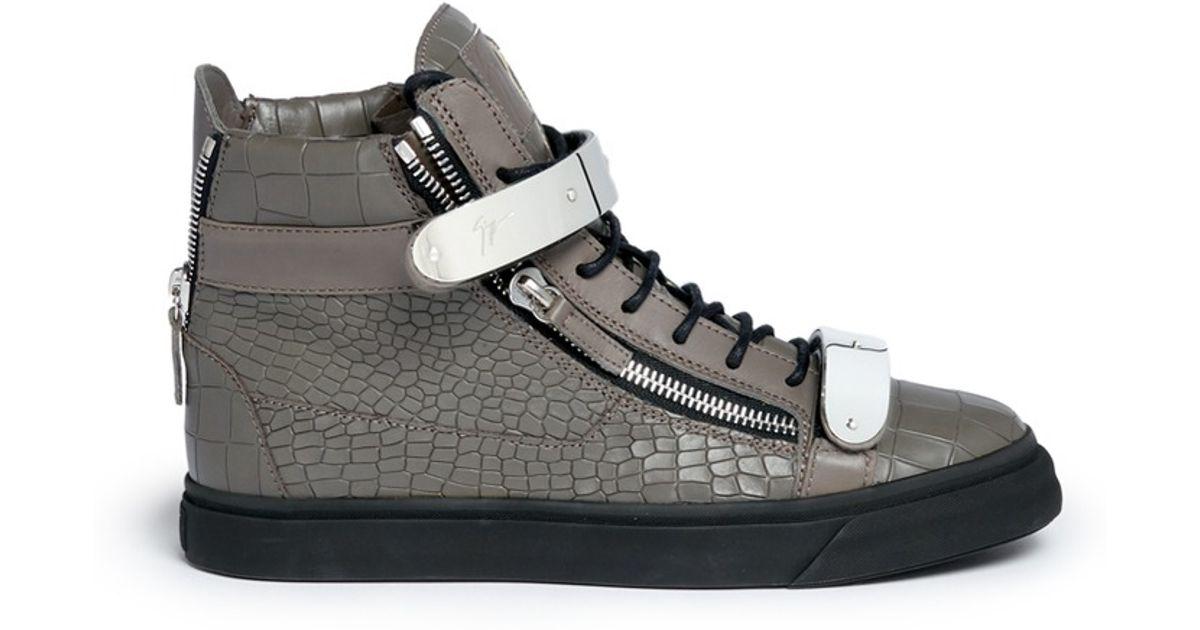 Giuseppe Zanotti Croc May London High-Top Sneakers vjB95llTg