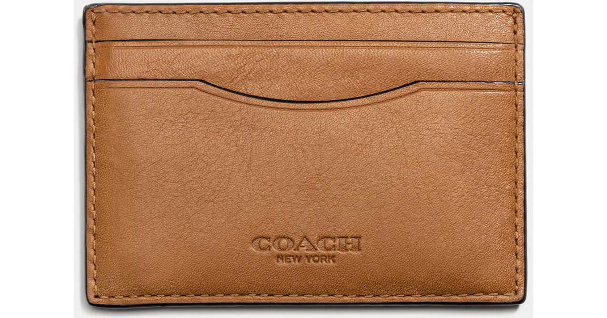 357e2df7f6 COACH Brown Card Case In Sport Calf Leather for men