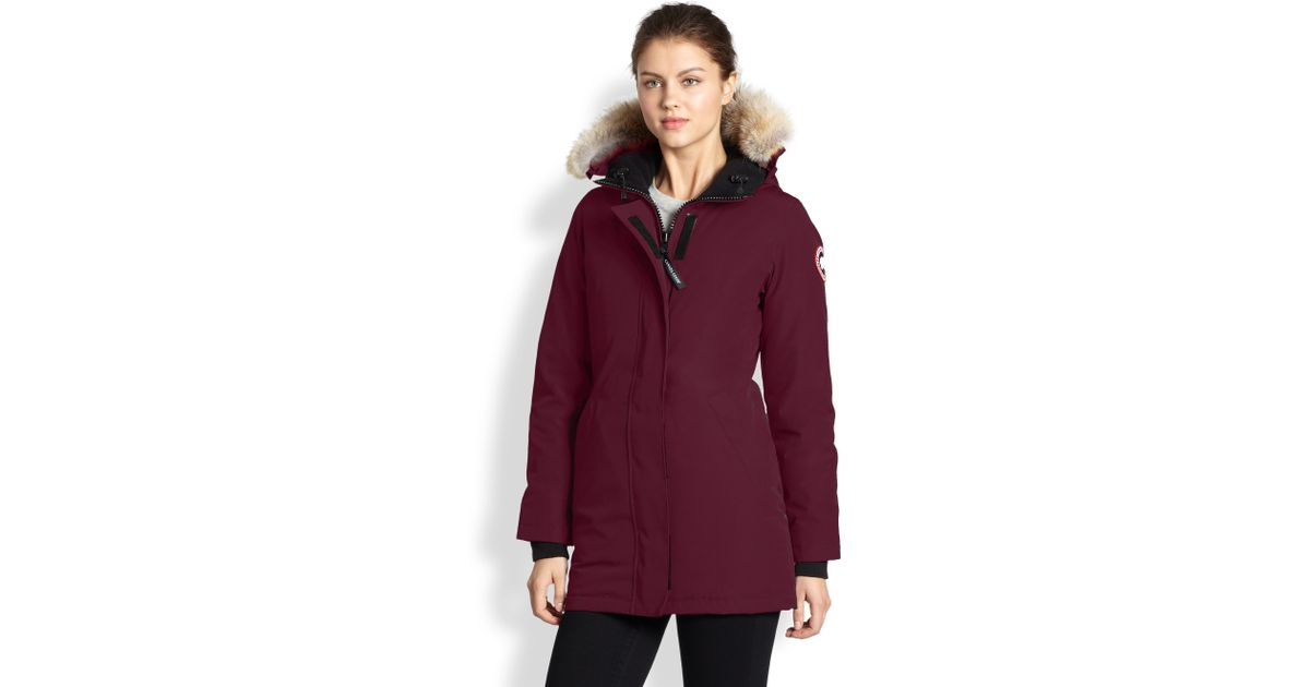Canada Goose' Women Red Victoria Parka